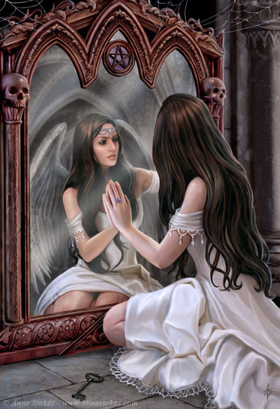 Magic mirror_ by Anne Stokes