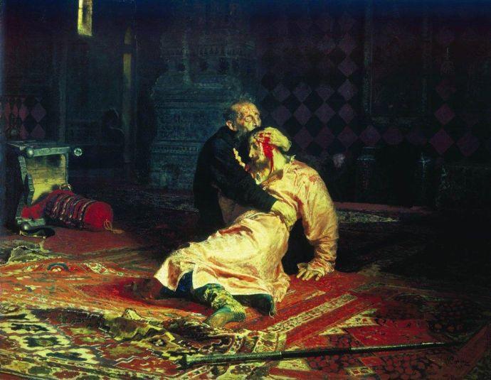ИванГрозный и сын его_Repin_I