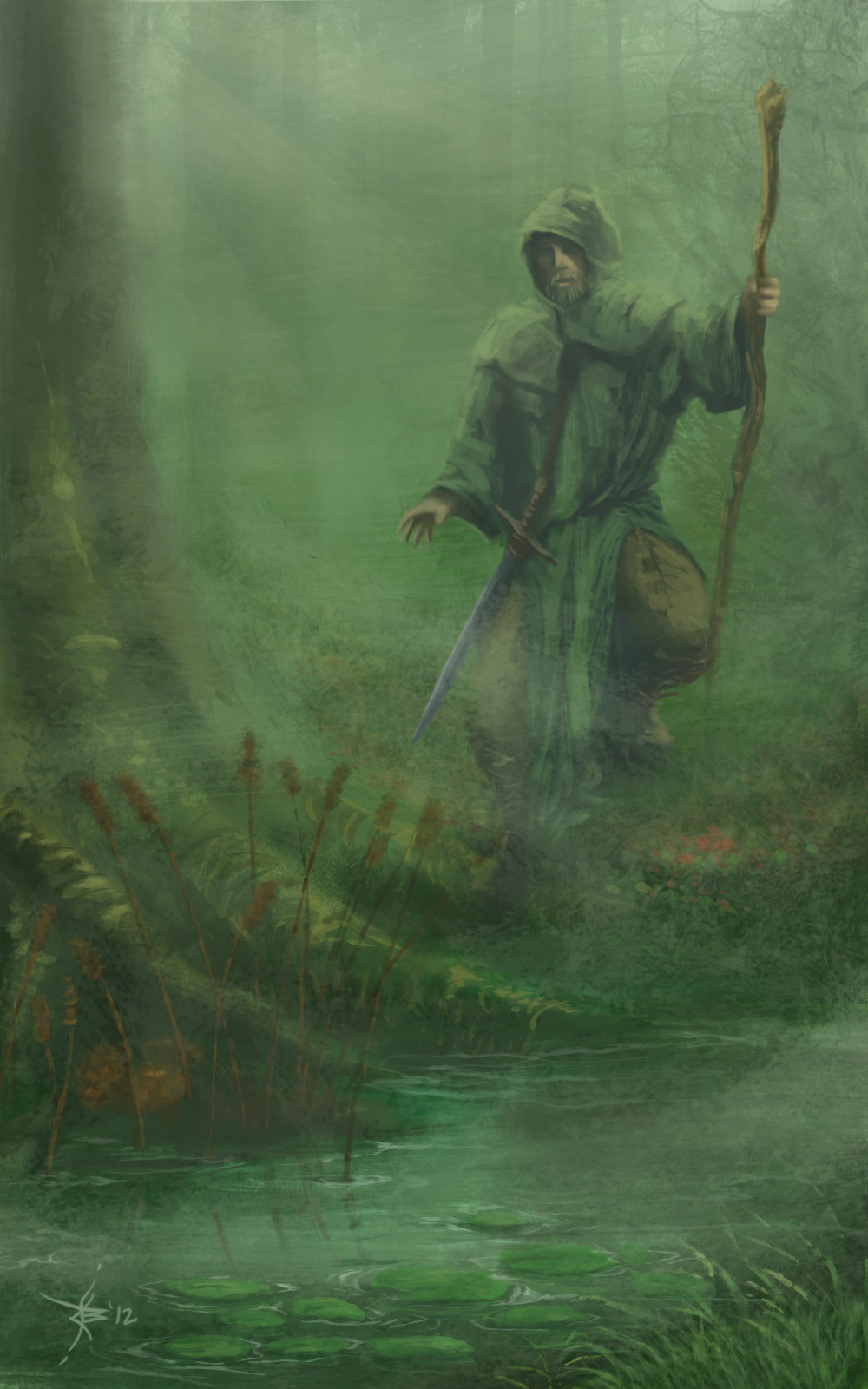 druid-in-the-forest-mist